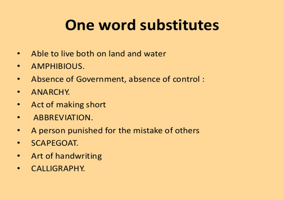 Class 7 One Word Substitutions Proverbs Facts And Opinions