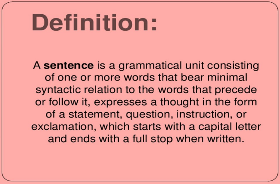 Class 7: Sentence - English Square