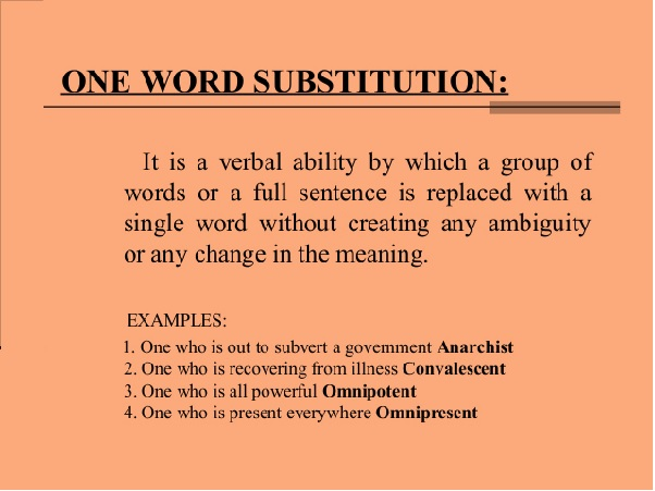Class 10: One Word Substitutions and Idioms - English Square
