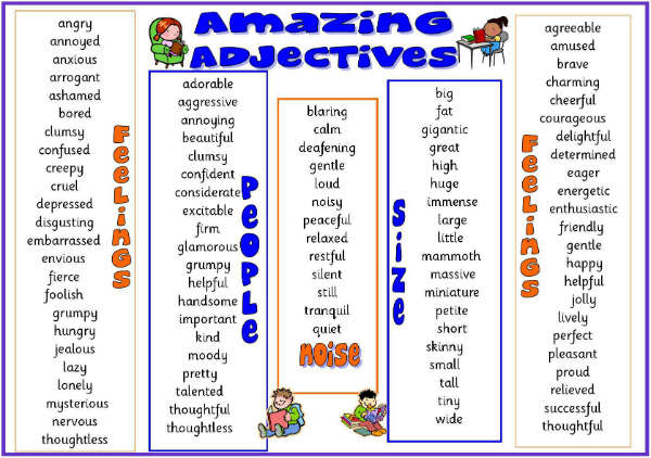 class 3 adjectives english square