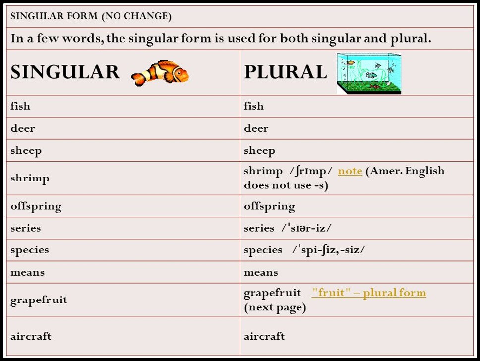 Singular Plural and One Word Substitution